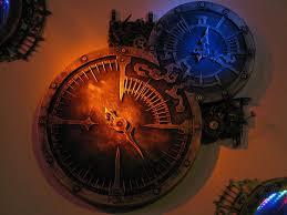 awesome clocks steampunk clock with 2 rgb light wells awesome steampunk clock