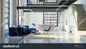 Loft Interior 3d Render Loft Interior Stock Illustration 394229137 Shutterstock