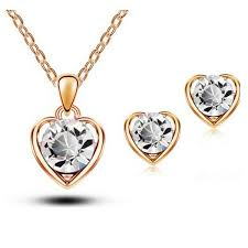 swarovski hearts necklace images Swarovski heart necklace earring set amosh european jewellery jpg