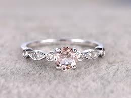 morganite engagement ring gold 0 5 carat morganite engagement ring promise ring 14k