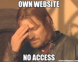 Website Meme - own website no access meme frustrated boromir 27041 memeshappen