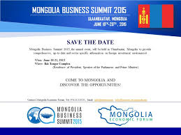 Save The Date Emails Save The Date 2015 Mongolia Business Summit