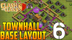 coc map layout th6 clash of clans defense strategy town hall 6 trophy base layout
