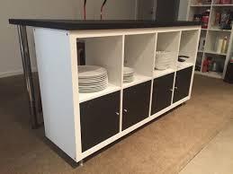 etagere de bureau ikea transformer une étagère ikea en un îlot de cuisine 20 exemples