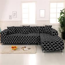 recouvre canapé noir blanc amour photo canapé couverture universelle élastique