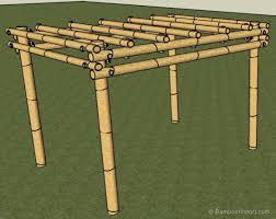 to build a bamboo pergola