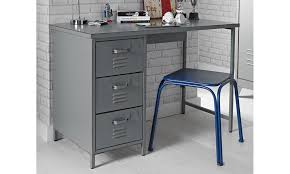 grey desk with drawers brooklyn vintage grey 3 drawer metal desk