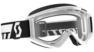 scott motocross goggles scott recoil xi wfs clear works goggle white offroad goggles