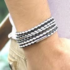 free leather bracelet images New style 2017 latest popular 5 laps leather bracelet men charm jpg