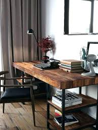 Rustic Wood Office Desk Rustic Wood Office Desk Solid Home Desks Executive Furniture Small