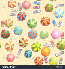 Clip On Umbrellas For Beach Chairs Seamless Background Top View Many Umbrellas Stock Vector 131529581