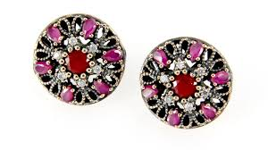 original earrings authentic silver original gem earrings bazaaristanbul