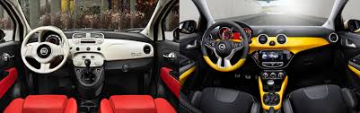 opel adam interior fiat 500 or opel adam fiat group u0027s world