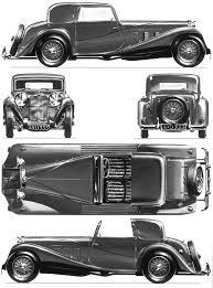 vintage cars drawings car blueprints delage d8 ss sedanica blueprints vector drawings