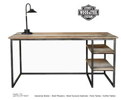 Custom Desk Design Ideas Make Your Office More Eco Friendly With A Reclaimed Wood Desk