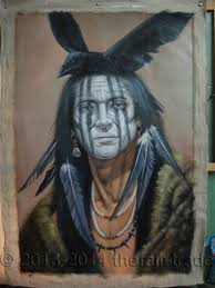 native american art hand painted oil painting on canvas american