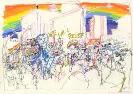 halloween city lynden lgbt solidarity rally in new york city urban sketchers