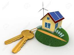 House Means Bunch Of Keys And The House Using Non Polluting Energy Sources