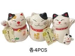 daiso japan store lucky cat ornament 3 assort 3 54