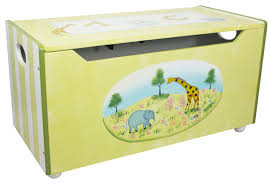 alphabet handcrafted kids wooden toy box with safety hinge