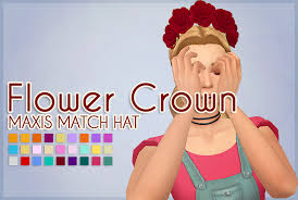 sims 4 maxis match cc hair flower crown the sims 4 maxis match hat hey meyokisims