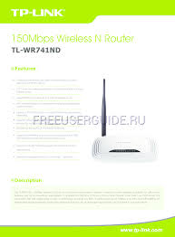 data sheet for wireless routers tp link tl wr741nd v5 download free