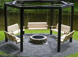 awesome fire pit swing set home design garden u0026 architecture