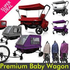 wagon baby qoo10 premium baby wagoneasy folding canopy wagon picnic