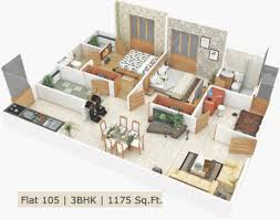 2bhk room and car parking 3d design gallery sq ft bhkapartment for