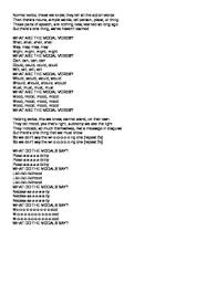 modal verbs song to the tune of