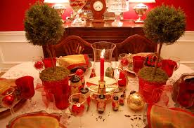 Christmas Table Centerpiece by Table Setting Tablescape With Topiary Centerpiece