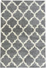 ultimate shaggy collection moroccan trellis design shag rug