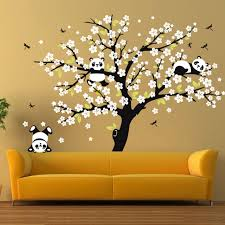 Cherry Blossom Tree Wall Decal For Nursery White Cherry Blossom Tree Wall Stickers Nursery Decorative