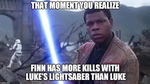 Lightsaber Meme - finn imgflip