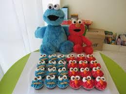 elmo u0026 cookie monster cupcakes artisan baking by scrumptious
