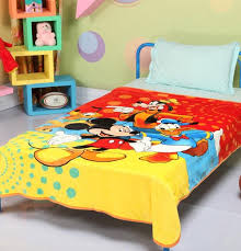 disney mickey mouse and friends signature single bed blanket quilt