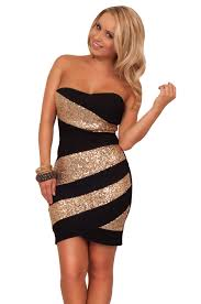 asymmetrical strapless sequins mini party cocktail formal