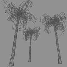 tronitec studios 10 coconut palm trees collection 3d palm
