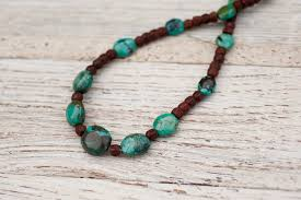 bead necklace wood images Prasada jewelry earth angel turquoise wood bead necklace jpg