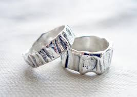 contemporary wedding rings unisex wedding band set matching wedding bands sterling silver