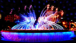 water fountain with lights dancing water fountain in barcelona youtube