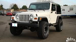1997 jeep wrangler wheels this 1997 jeep wrangler is outfitted with a bds 3 lift kit
