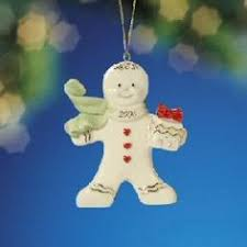 lenox annual gingerbread ornament new dated 2015