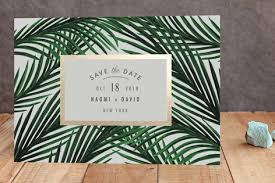 tropical foil pressed save the date cards by elly minted