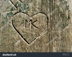 carved wood plank grunge graffiti carved into wooden stock photo 24258553