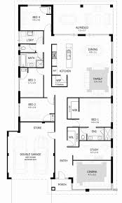 large ranch floor plans ranch house plans plan 4 bedroom simple open floor l shaped with