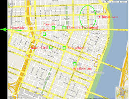Portland Zip Code Map by Map Of Downtown Portland Oregon My Blog