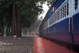 monsoon clouds shower rapidly forcing passengers on the