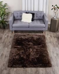 large brown sheepskin area rug 4x6 ft sheepskin town