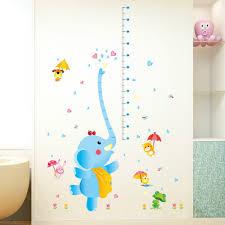 popular nursery kids cute wall stickers buy cheap nursery kids cute elephant spray height measuremet wall sticker home decal kids room paper art diy murals nursery